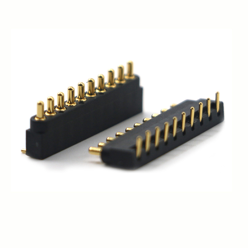 Customized 10pin right angle pogo pin connector