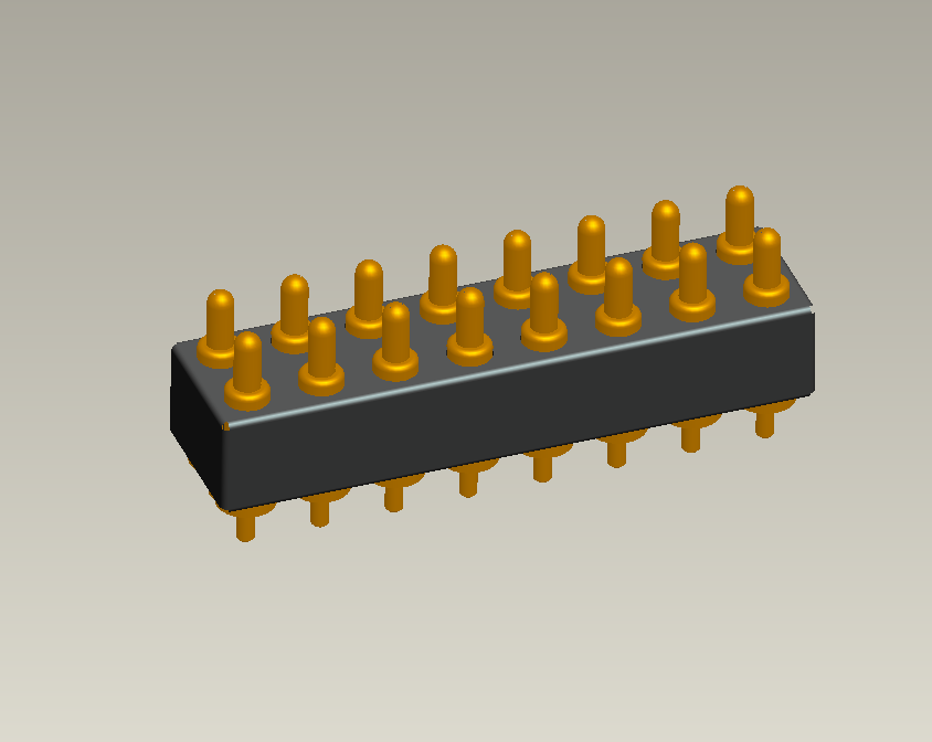 16PIN 2.54MM Pitch Through-hole Pogo Pin Connector