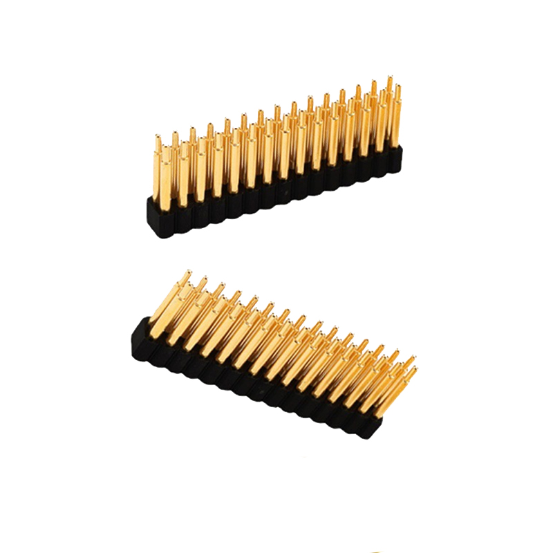 30 pin spring loaded pogo pin connector 2.54mm surface mount PCB SMT brass material gold plating
