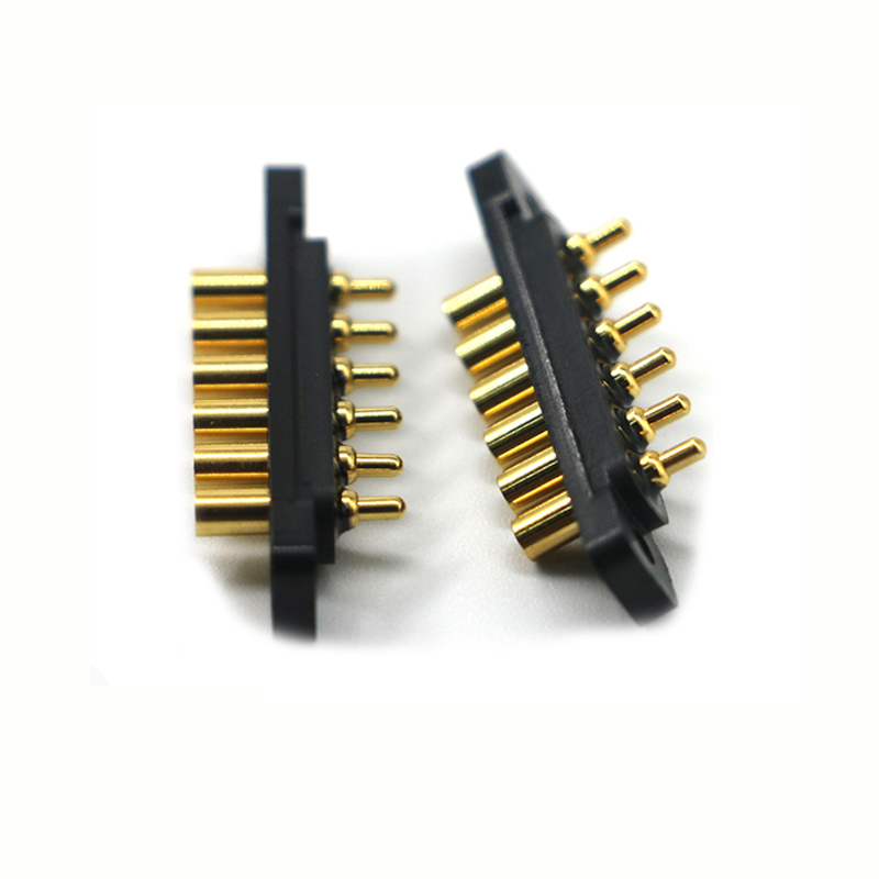 UPE customized 5pin SMT  pogo pin spring loaded connector with screw