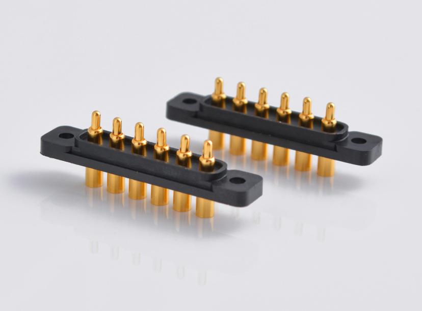 6pin gold-plating Waterproof Pogo Pin Connector
