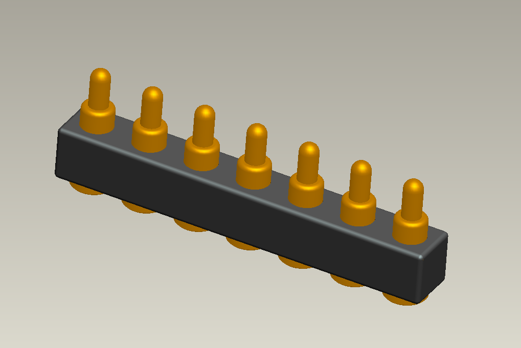 High current 7pin spring loaded connector for medical equipment application