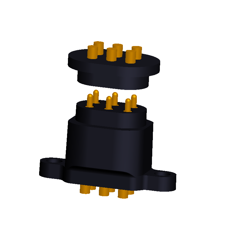 Customzied 2x3 6pin male female spring-loaded pin connector